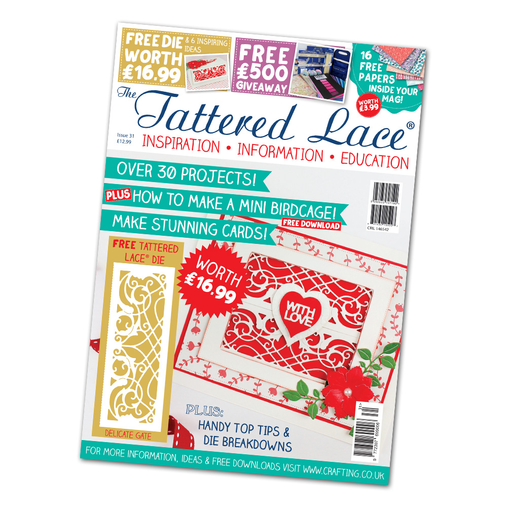 Tattered Lace - Magazines 31 + new dies!