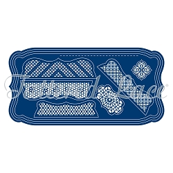 Tattered Lace - Dies - Festooned Label Card Shapes