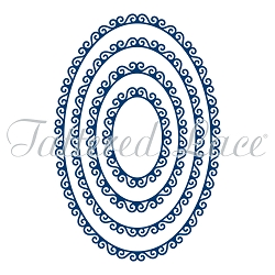 Tattered Lace - Dies - Swirl Edge Ovals