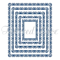 Tattered Lace - Dies - Swirl Edge Rectangles