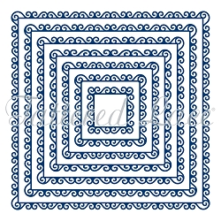 Tattered Lace - Dies - Swirl Edge Squares