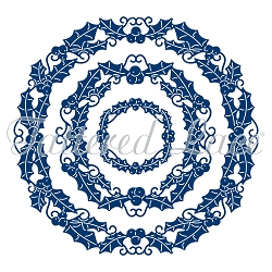 Tattered Lace - Dies - Essential Circle Holly (requires large format die cut machine)