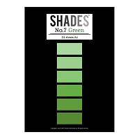 Tattered Lace - Shades Cardstock Pad - A4 Green