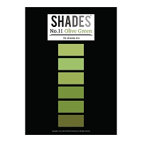 Tattered Lace - Shades Cardstock Pad - A4 Olive Green
