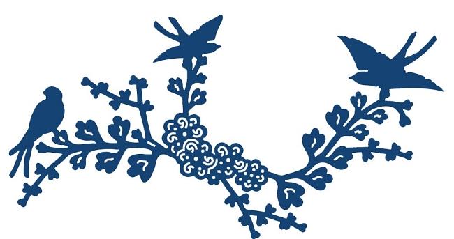 . Tattered Lace   Dies   Oriental Blue Bird
