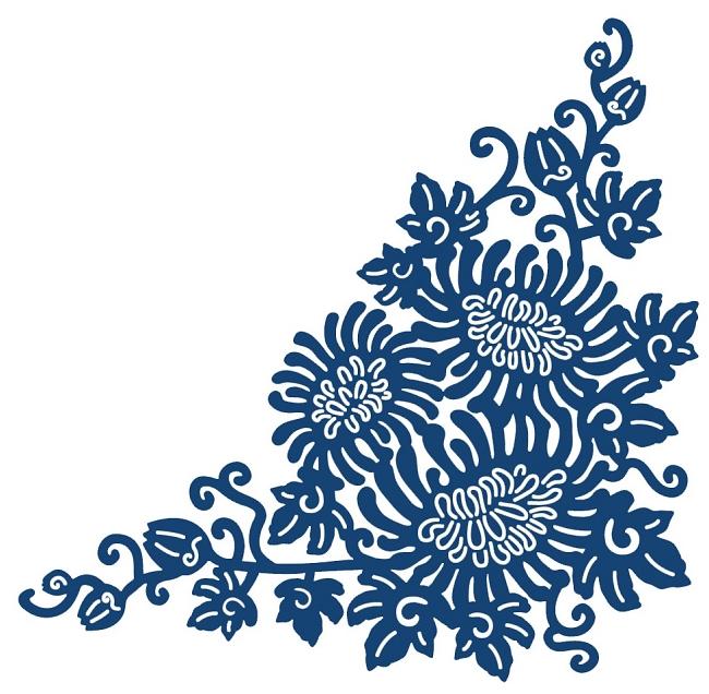 . Tattered Lace   Dies   Oriental Chrysanthemum