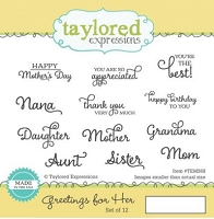Taylored Expressions - Cling Mounted Rubber Stamp - Greetings for Her