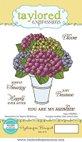 Taylored Expressions - Cling Mounted Rubber Stamp - Hydrangea Bouquet