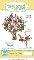 Taylored Expressions - Cling Mounted Rubber Stamp - Stargazer Lily Bouquet