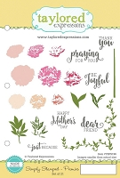 Taylored Expressions - Cling Mounted Rubber Stamp - Simply Stamped Peonies