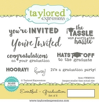 Taylored Expressions - Cling Mounted Rubber Stamp - Eventful Graduation