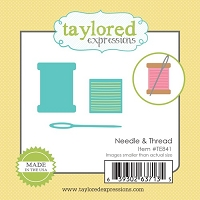 Taylored Expressions - Cutting Die - Little Bits Needle & Thread