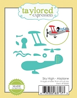 Taylored Expressions - Cutting Die - Sky High Airplane