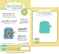 Taylored Expressions - Rubber Cling Stamps and Die Set - Clocked Out Grumpling