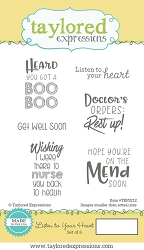 Taylored Expressions - Cling Mounted Rubber Stamp - Listen To Your Heart