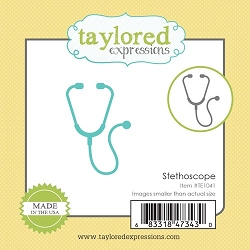 Taylored Expressions - Cutting Die - Little Bits Stethoscope