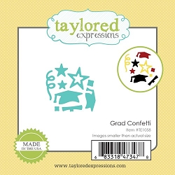 Taylored Expressions - Cutting Die - Little Bits Grad Confetti