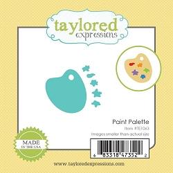 Taylored Expressions - Cutting Die - Little Bits Paint Palette