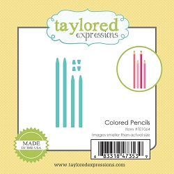 Taylored Expressions - Cutting Die - Little Bits Colored Pencils