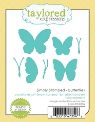 Taylored Expressions - Cutting Die - Simply Stamped Butterflies