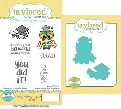 Taylored Expressions - Rubber Cling Stamps & Die Set - Matchy Matchy Grad