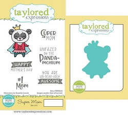Taylored Expressions - Rubber Cling Stamps & Die Set - Super Mom