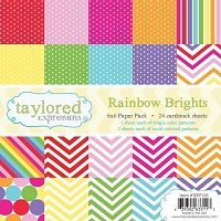 Taylored Expressions - 6x6 Paper Pad - Rainbow Brights