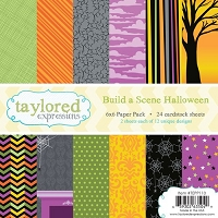Taylored Expressions - 6x6 Paper Pad - Build A Scene Halloween