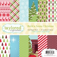 Taylored Expressions - 6x6 Paper Pad - Build A Scene Christmas
