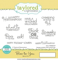 Taylored Expressions - Cling Mounted Rubber Stamp - Boo To You