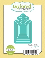 Taylored Expressions - Cutting Die - Tag Stacklets 1