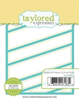 Taylored Expressions - Cutting Die - Diagonal Stripes Cutting Plate
