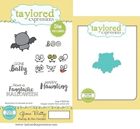 Taylored Expressions - Rubber Cling Stamps & Die Set - Gone Batty