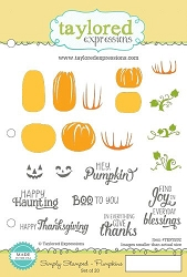Taylored Expressions - Cling Mounted Rubber Stamp - Simply Stamped Pumpkins