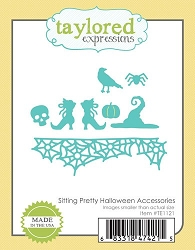 Taylored Expressions - Cutting Die - Sitting Pretty Halloween Accessories