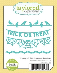 Taylored Expressions - Cutting Die - Skinny Mini Halloween Borders