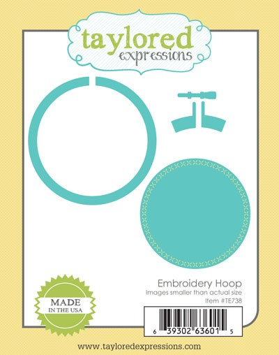Taylored expressions cutting die embroidery hoop