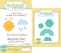 Taylored Expressions - Rubber Cling Stamps and Die Set - Sunny Days