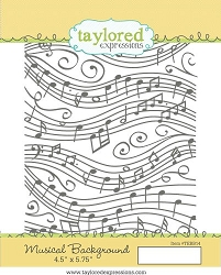 Taylored Expressions - Cling Mounted Rubber Stamp - Musical Background