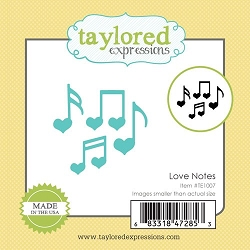 Taylored Expressions - Cutting Die - Little Bits Love Notes