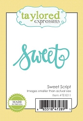 Taylored Expressions - Cutting Die - Sweet Script