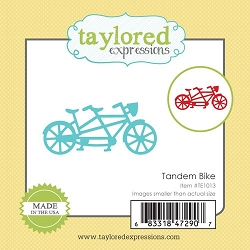 Taylored Expressions - Cutting Die - Little Bits Tandem Bike