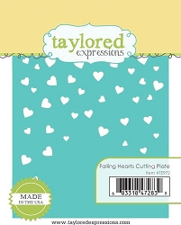 Taylored Expressions - Cutting Die - Falling Hearts