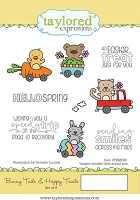 Taylored Expressions - Cling Mounted Rubber Stamp - Bunny Tails & Happy Trails