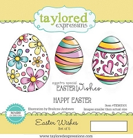 Taylored Expressions - Cling Mounted Rubber Stamp - Easter Wishes