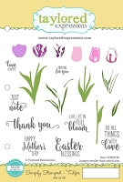 Taylored Expressions - Cling Mounted Rubber Stamp - Simply Stamped Tulips