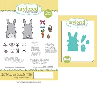Taylored Expressions - Rubber Cling Stamps & Die Set - If Bunnies Could Talk