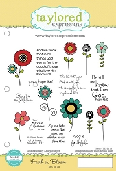 Taylored Expressions - Cling Mounted Rubber Stamp - Faith In Bloom
