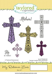 Taylored Expressions - Cling Mounted Rubber Stamp - My Redeemer Lives