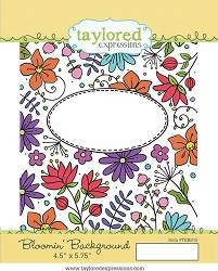 Taylored Expressions - Cling Mounted Rubber Stamp - Bloomin' Background
